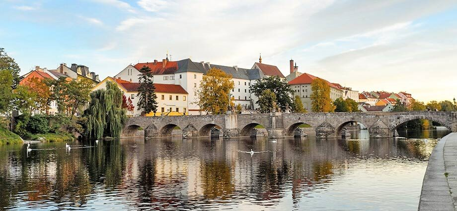 Die Steinbrücke in Pisek